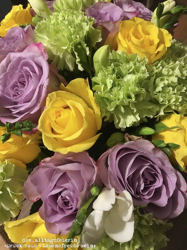Wochenglueckrueckblick 221017, Blumenstrauss, Rosen, Blumenliebe, bunt, WOCHENGLÜCKRÜCKBLICK * 221017 *