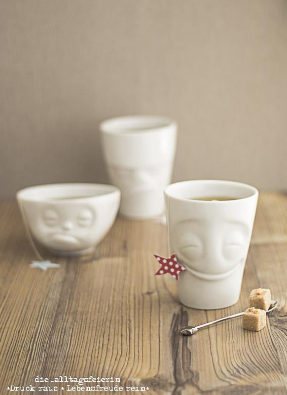 Familiengeschichten, FiftiyEight-Products, Tassen, Porzellan, made in Germany, die Alltagsfeierei, Tassenliebe, Becher, Charaktere, Tassen mit Charakter