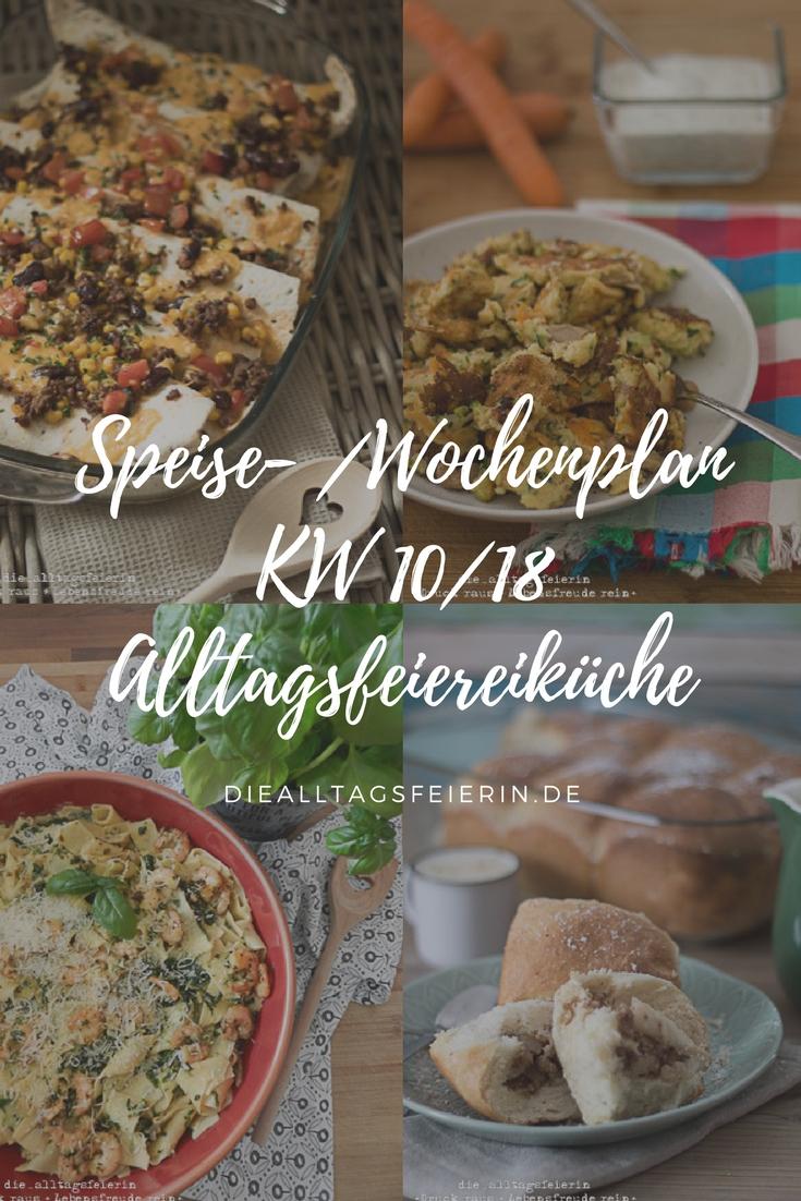{ WOCHENPLAN / FREEBIE } KW 10/18 * Essen ist fertig! *