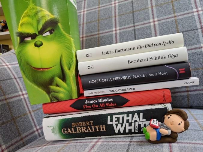 """Diese Bücher, die ich 2018 gelesen habe, sind empfehlenswert. Benedict Wells' """"Die Wahrheit über das Lügen"""" ist gerade unterwegs. Foto: Petra Breunig"""