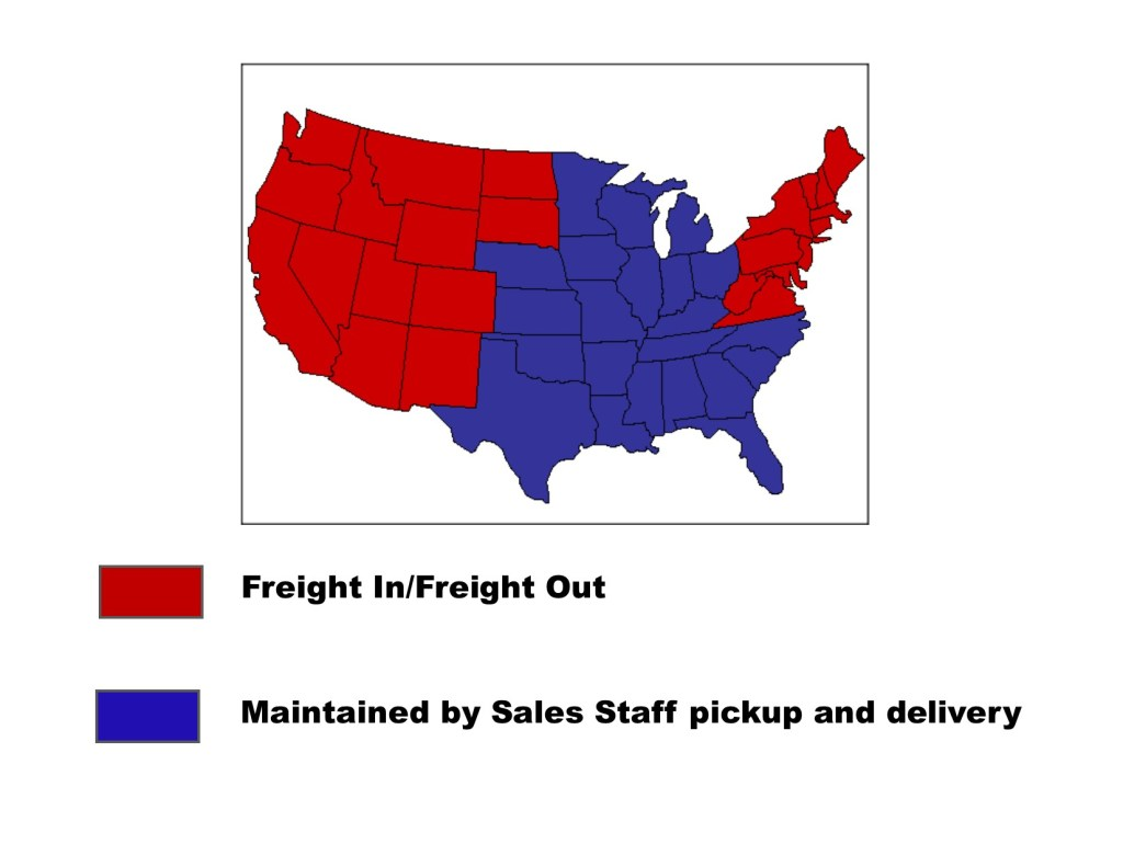 Map of Dieb Freight Territory