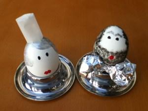 Die Caterin und Mann als Frühstücksei