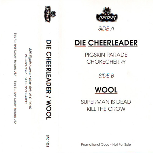 Die Cheerleader / Wool Promo Cassette