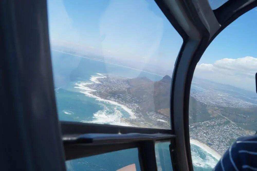 Ein Helikopter Flug, neben Neighbourgoods Market und Tafelberg ein weiteres Highlight in Kapstadt