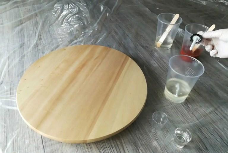 Die Resin-Farben mischen und vorbereiten 2
