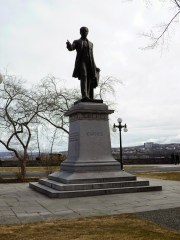 Statue von Jacques Cartier, besiedelte als Erster im Auftrag der Franzosen das Gebiet um Quebec