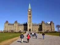 Das Parlamentsgebäude von Kanada in Ottawa