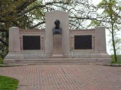 Lincoln Denkmal zur Erinnerung an seine denkwürdige Rede, der Gettysburg Adress, zur Eröffnung des Friedhofes