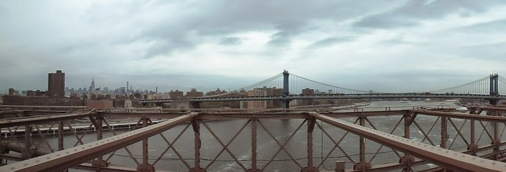 Blick Richtung Norden auf die Manhattan Bridge