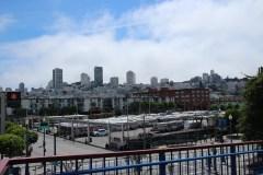 Blick vom Pier 39 Richtung Stadt