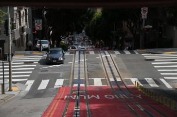 Auf dem Cable Car Blick zurück