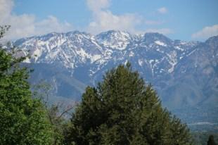Und Nochmal, so nah sind dei Berge an Salt Lake City