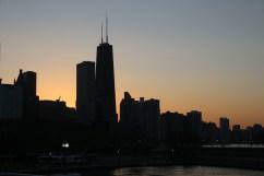 Skyline im Sonnenuntergang