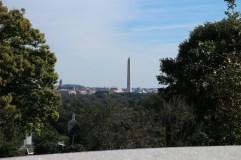 Blick von Kennedys Grab Richtung Washington Monument