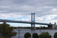 Benjamin Franklin Bridge von Philadelphia nach New Jersey