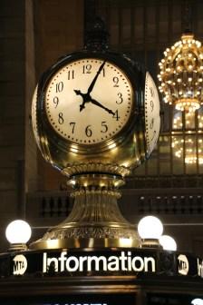 Uhr in der Mitte der großen Halle der Grad Central Station