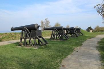 Kanonen auf der Festung