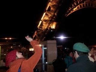 Eiffel Tower - Honeymooners honey mooning. I had the poo poo face!