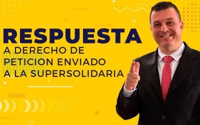 RESPUESTA DERECHO DE PETICIÓN SARL SUPERSOLIDARIA A DIEGO BETANCOUR
