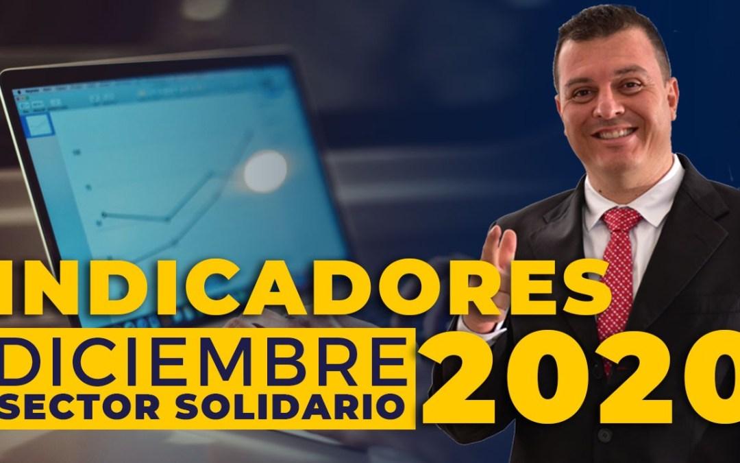 Indicadores Sector Solidario a DIC 2020                          |Diego Betancour