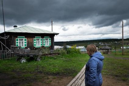 Nizhnyaya Sinyachikha, the city of the wooden houses