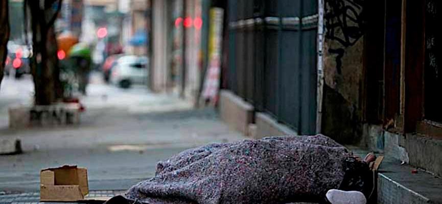 Coberta do morador de rua