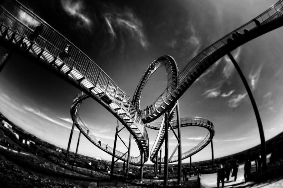 rollercoaster, looping, amusement
