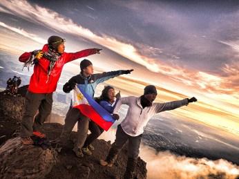 The climbing crew: (L to R) Foncy, myself, Coby, Ian