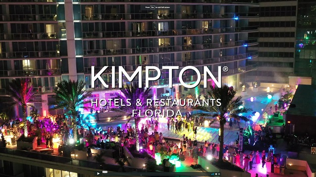 Video for Kimpton Hotels employees celebration at Miami Epic rooftop videography by Diego Pocovi