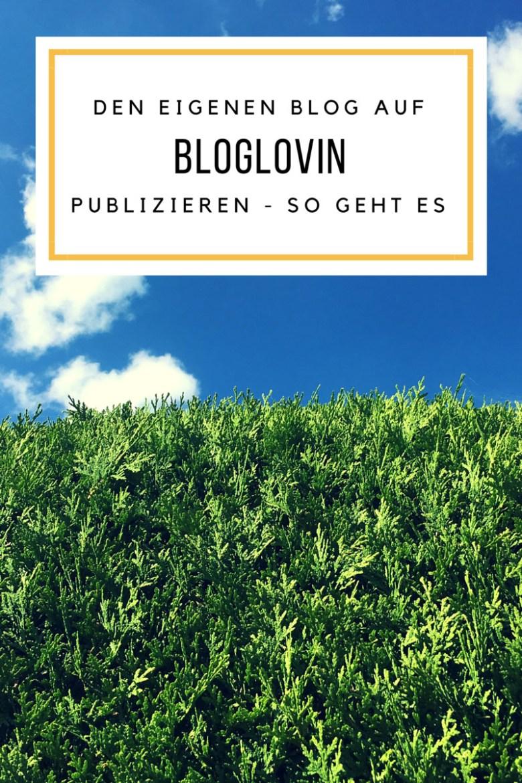 Den eigenen Blog auf Bloglovin publizieren