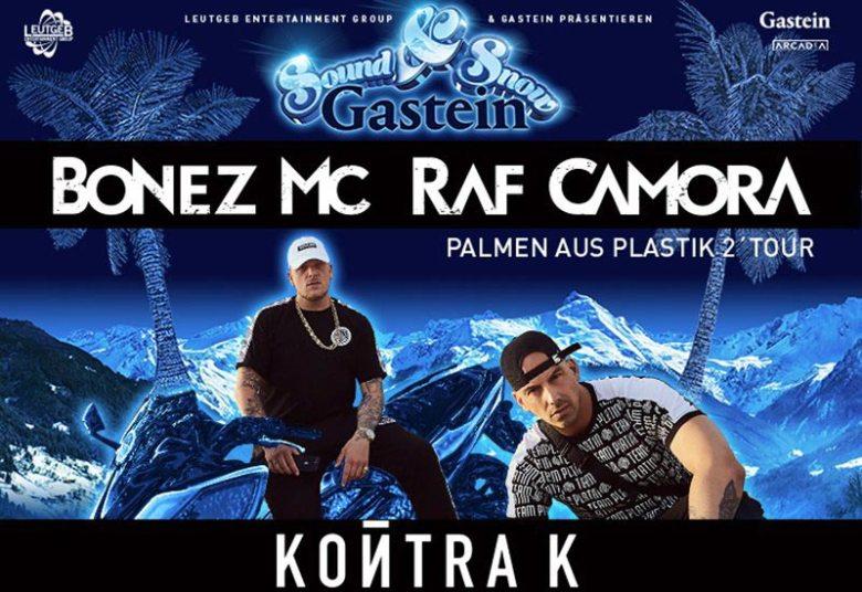 Highlight der Skiopenings im Salzburger Land: Sound & Snow in Gastein mit Bonez MC & RAF Camora am 14. Dezember 2019.
