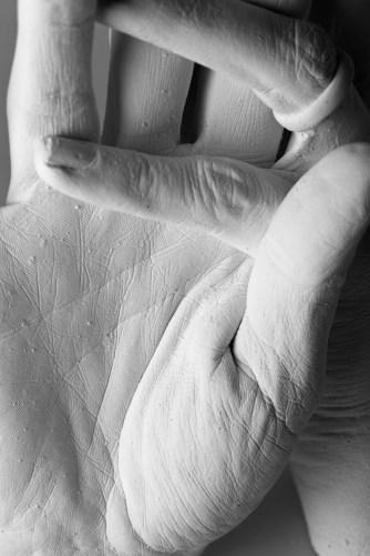 poorengenauer Abdruck einer Hand