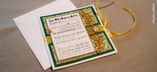 Gold und Grüntöne für weihnachtliches Flair