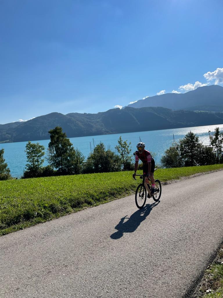 Rennrad fahren am Attersee