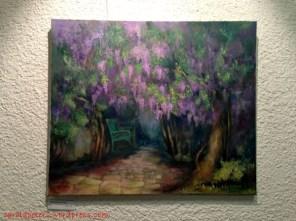 Cornelia Danz - Blühende Bäume mit Bank (c) Carola Peters