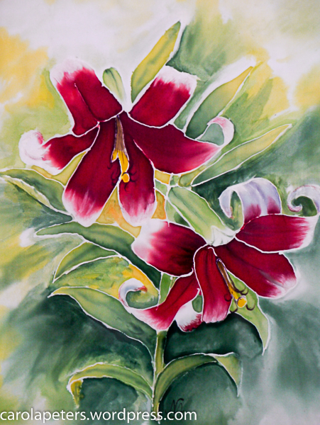 Nurhayat Artunc - Seidenmalerei - Lilie