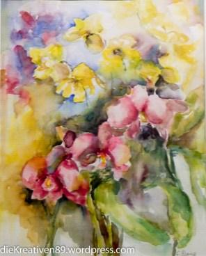 Cornelia Danz - Gelbe und rote Orchidee