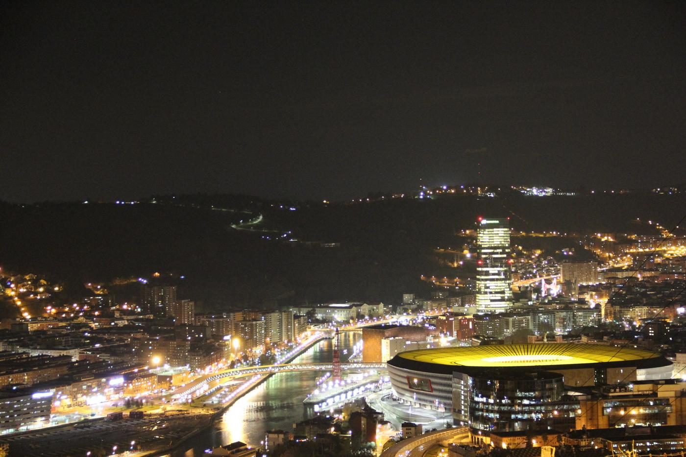 Sicht auf Bilbao vom Wohnmobilplatz