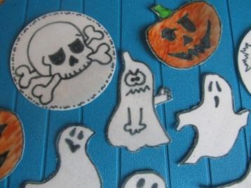 Halloween Oblaten Deko