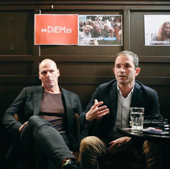 Yanis Varoufakis and Benoit Hamon