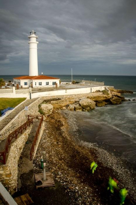 Foto vom Leuchtturm in Torrox.