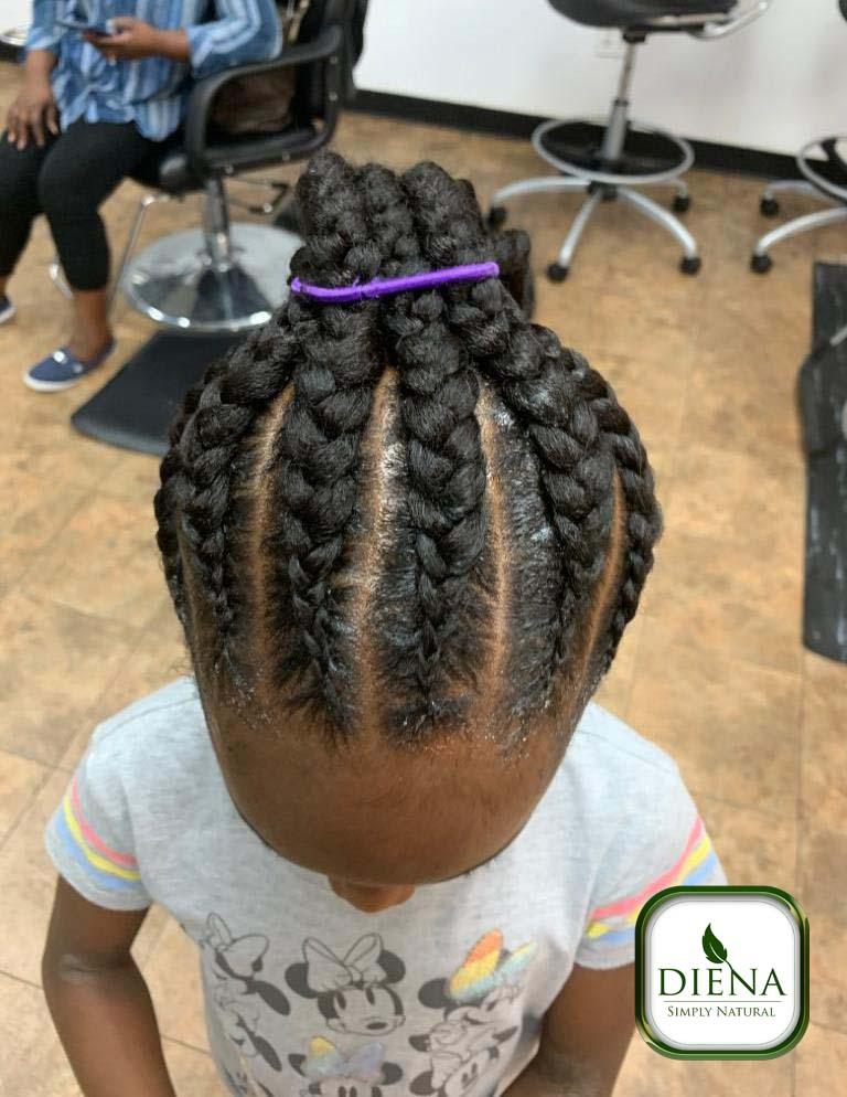 Ponytail Ghana Cornrows - DSN Braiding - Diena Simply Natural