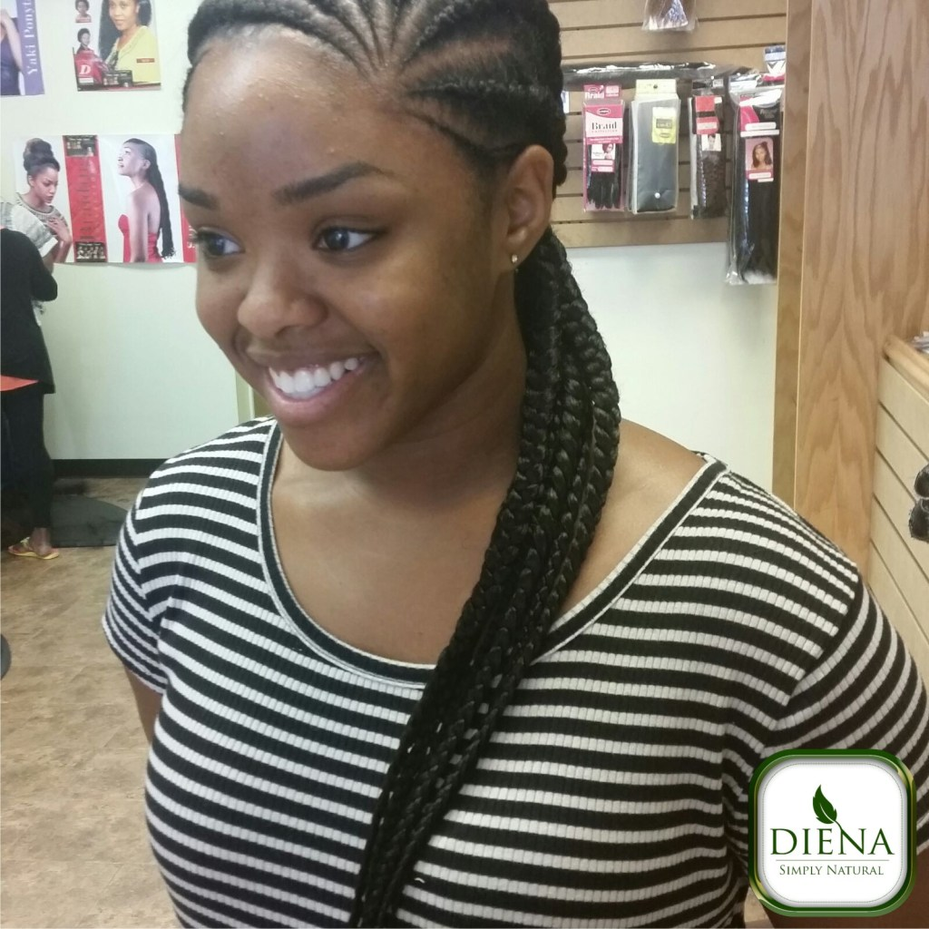 Ghana braids from Diena Simply Natural (DSN Braiding)