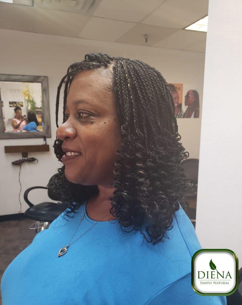 Curly Box Braids - DSN Braiding