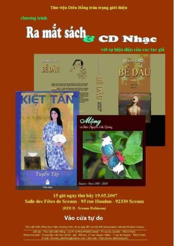 Bích chương chương trình ra mắt sách Kiệt Tấn, Nam Dao & CD nhạc Nguyễn Linh Quang