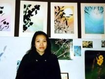 1993-10-31 - Paris : Kim Linh trong buổi triển lãm tranh, ảnh, tượng
