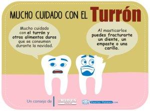 Cuidado con los dientes y el turrón duro