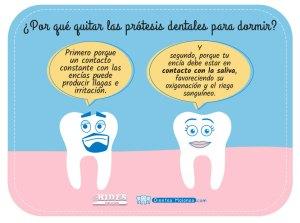¿Por qué quitar las prótesis dentales para dormir?