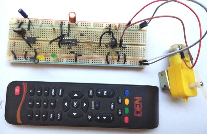 Mạch điều khiển tốc độ động cơ dùng remote hồng ngoại