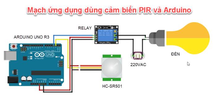 Cảm biến chuyển động PIR và Arduino